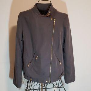 Apt 9 Light Jacket Grey Gold Asymmetrical Zip
